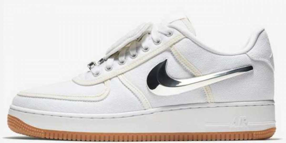 "Where To Buy Travis Scott x Nike Air Force 1 Low ""Sail"" Shoes AQ4211-101"
