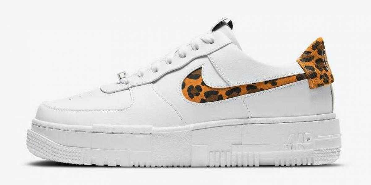 2020 Latest Nike Air Force 1 Pixel Covered in Leopard Print
