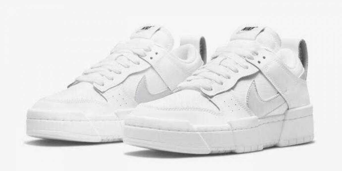 DJ6226-100 Nike Dunk Low Disrupt White Silver 2021 New Released