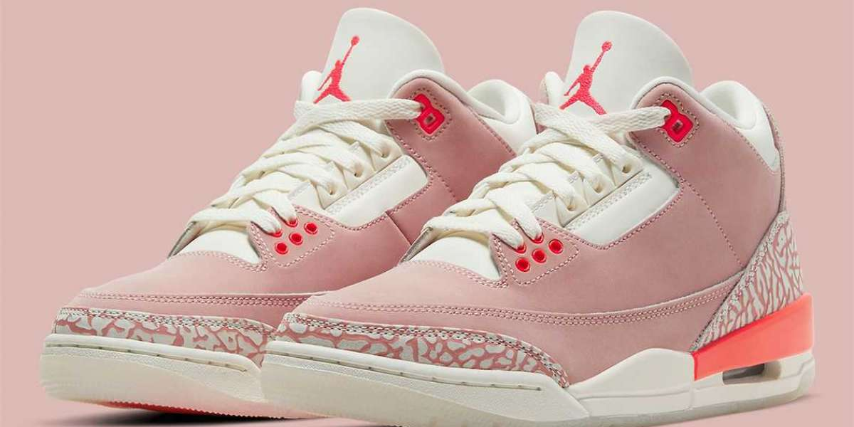 "Hot Sell Air Jordan 3 WMNS ""Rust Pink"" will releasing on April 15, 2021"